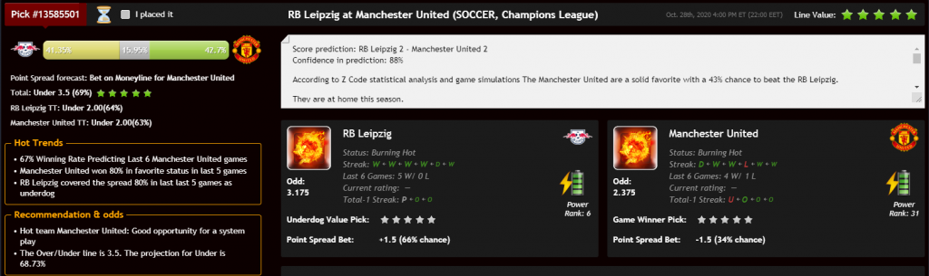 prediction soccer 1